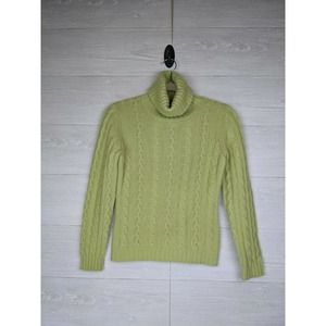 Paul Stuart Italy Lime Green Cashmere Sweater